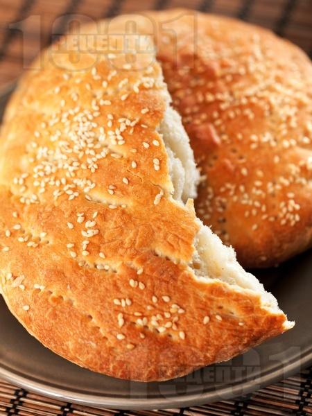 Марокански сусамени питки за хлебопекарна със сусам, грис и анасон (със суха мая) - снимка на рецептата